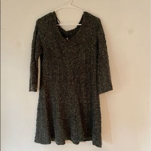 Free people grey sweater dress large